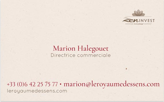 Agence de communication Brand to Design Bordeaux : carte de visite / identité visuelle