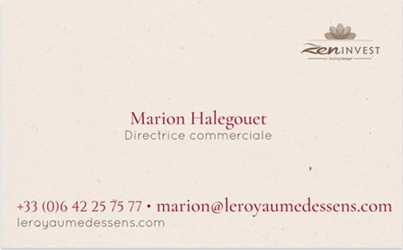 Agence de communication Brand to Design Bordeaux : carte de visite / identité visuelle