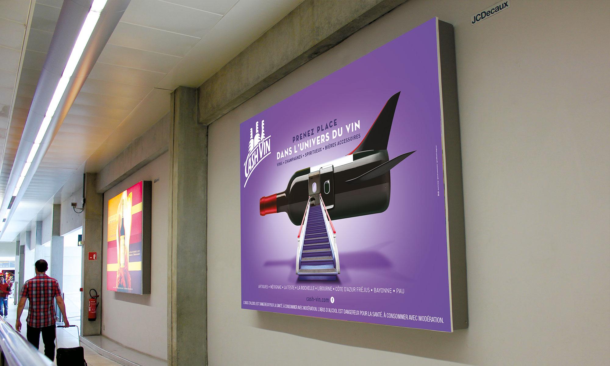 Agence de communication Brand to Design Bordeaux Cashvin campagne de publicité