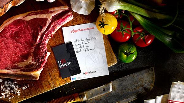 Le fils du boucher restaurant agence brand to design bordeaux creation