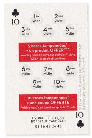 Agence de communication Brand to Design Bordeaux : carte de fidélité / identité visuelle