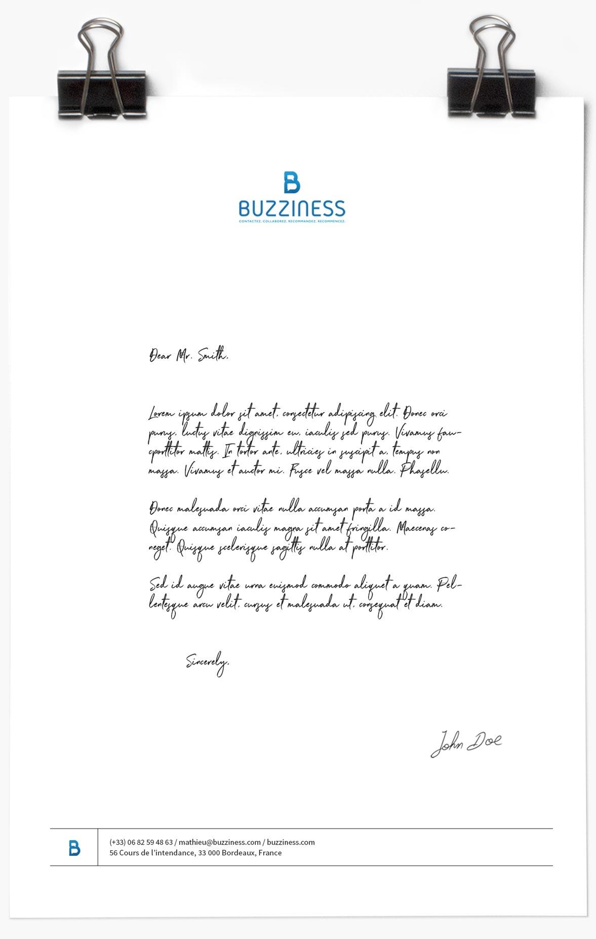 Agence de communication Brand to Design Bordeaux : carte de fidélité / identité visuelle Buzziness