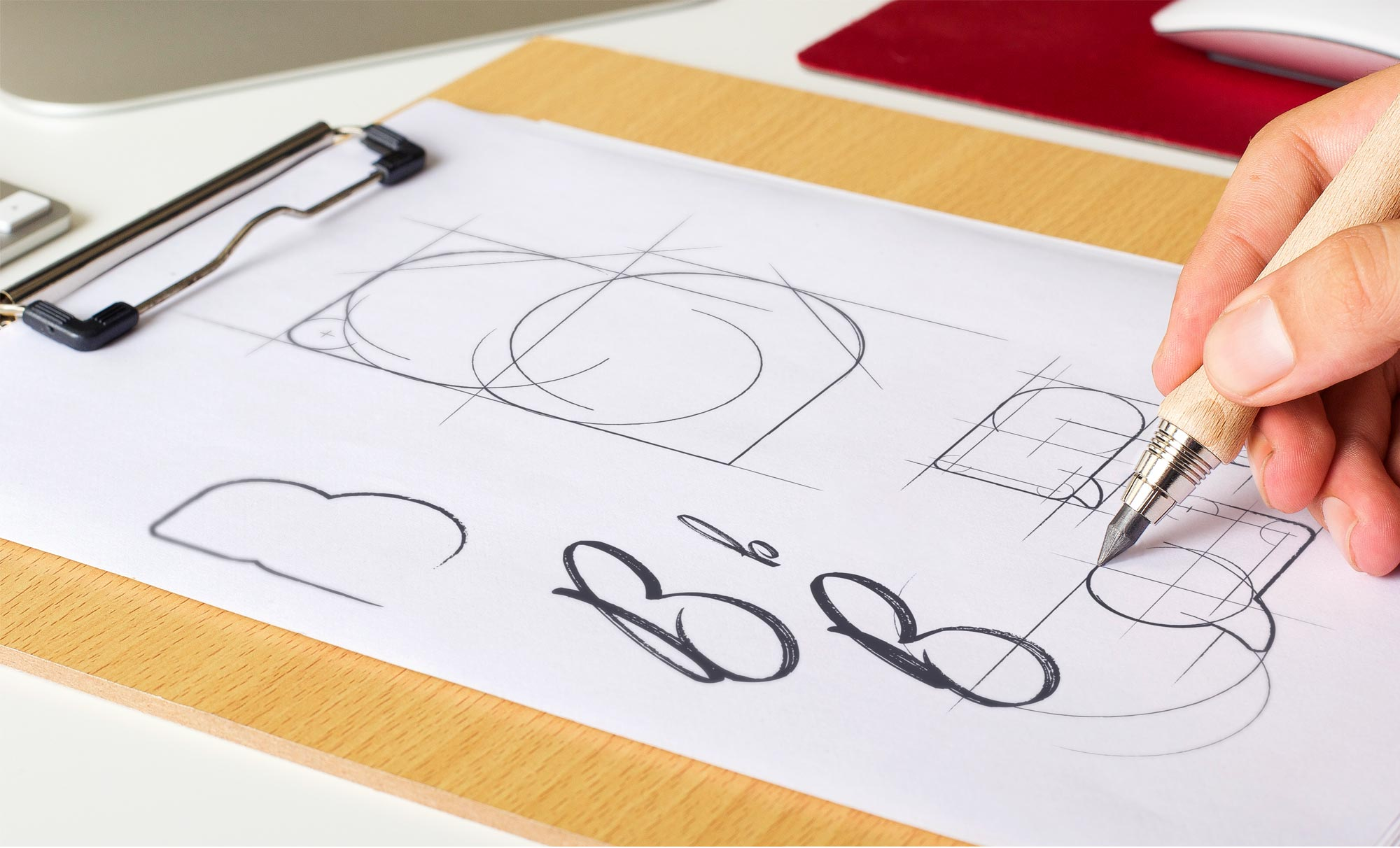 Agence de communication Brand to Design Bordeaux : logotype et identité visuelle Buzziness
