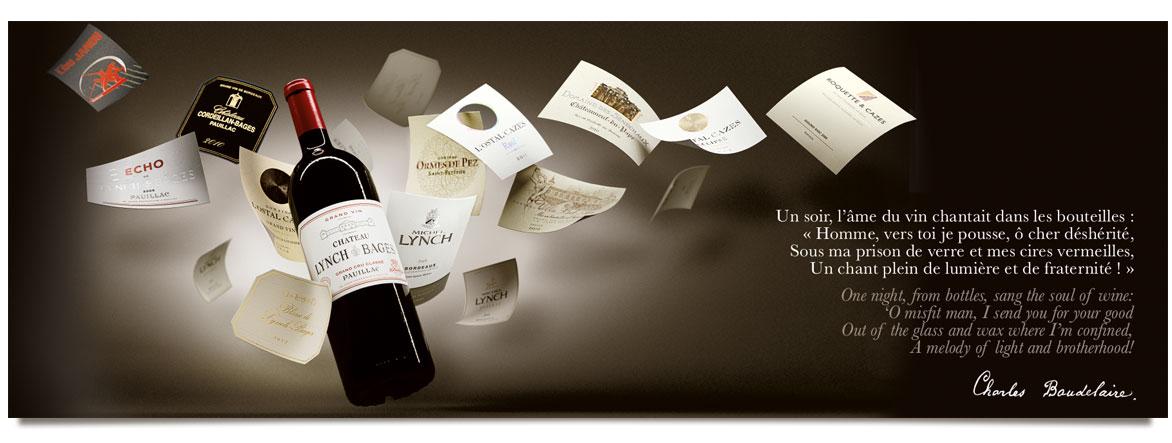 Carte de voeux jean-michel cazes agence de communication brand to design Bordeaux création graphique