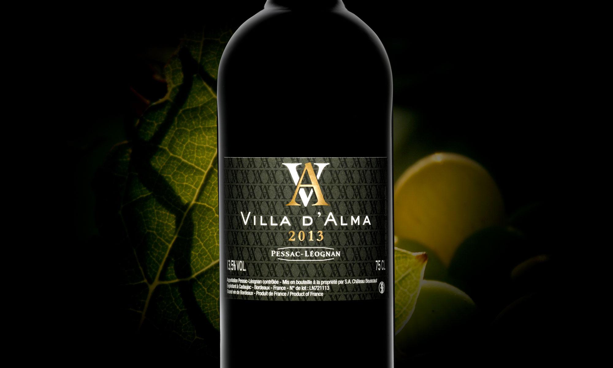 Agence de communication Brand to Design Bordeaux Cashvin étiquette vin