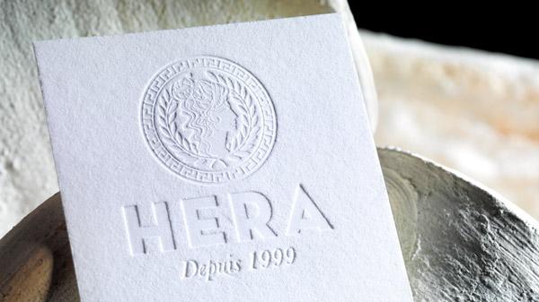 hera produit frais centrale d'achat logo gaufrage logo identité visuelle Bordeaux